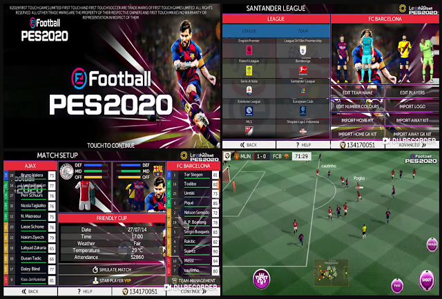 FTS 19 MOD PES 2020 EUROPE Update for Season 2019/2020