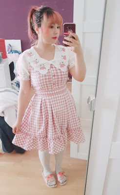 auris wearing the liz lisa strawberry dress