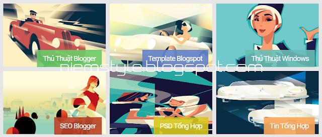 Tạo landing label theo kiểu METRO tuyệt đẹp cho blogspot/blogger