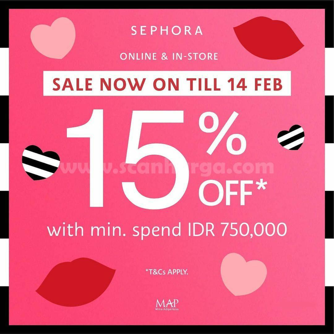 SEPHORA'S Promo VALENTINE'S DAY SALE up to 15% Off