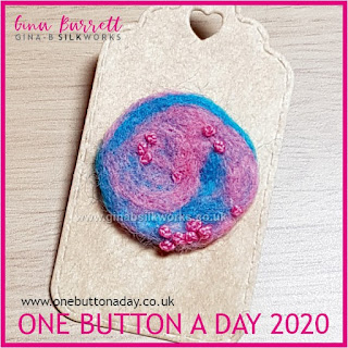 One Button a Day 2020 by Gina Barrett - Day 134 - Galaxy