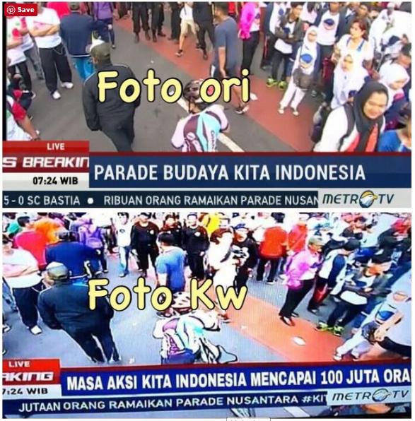 Metro TV Buat Klarifikasi Terkait Judul Berita 'Masa Aksi Kita Indonesia Mencapai 100 Juta'