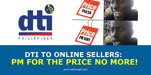 DTI TO ONLINE SELLERS: PM FOR THE PRICE NO MORE!
