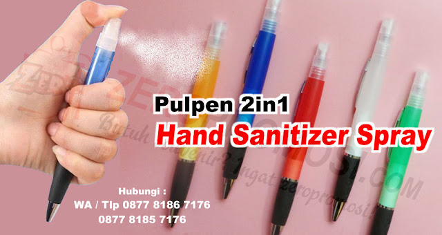 Pulpen Hand Sanitizer, Souvenir Pulpen 2in1, Pulpen Spray Hand Sanitizer Promosi, Jual PULPEN PLASTIK HAND SANITIZER SPRAY, BEST SELLER PAKET Hand sanitizer + Botol Pen Travel, Custom Hand Sanitizer, Pulpen 2 in 1 Hand Sanitizer untuk souvenir, Souvenir Hand Sanitizer Harga Murah