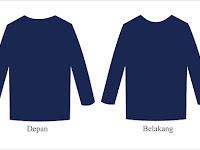 Fashion Corner Desain Kaos Polos Depan Belakang Warna Biru Dongker