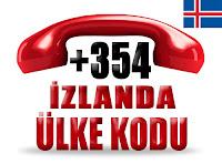 +354 İzlanda ülke telefon kodu