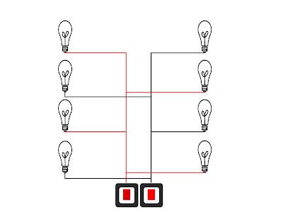 Pemasangan lampu hidup bergantian sangat mudah, kita dapat memanfaatkan dua saklar untuk mengendalikannya