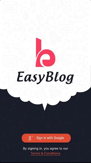 EasyBlog Login Page