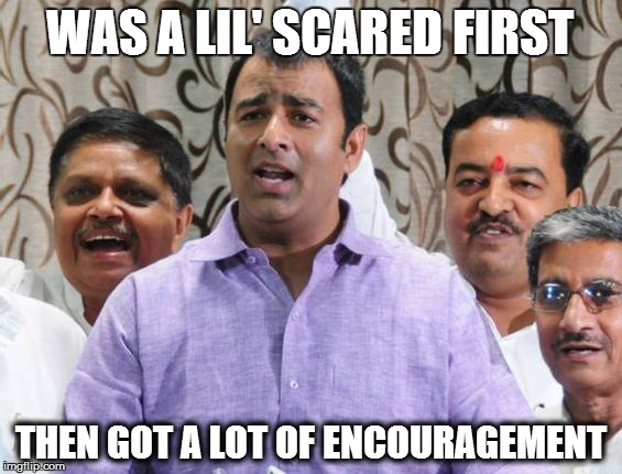 Sangeet Som - Was a little scared first, then got a lot of encouragement from BJP