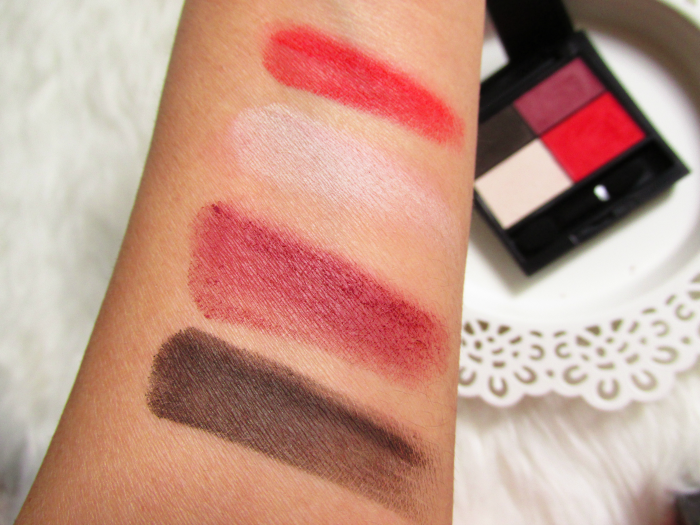 Swatches Trocken Make up Factory Red Rebel Eyeshadow Quattro