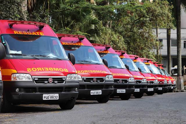 Frota do Corpo de Bombeiros ultrapassa a marca de mil viaturas em Minas Gerais || Divulgação/CBMMG