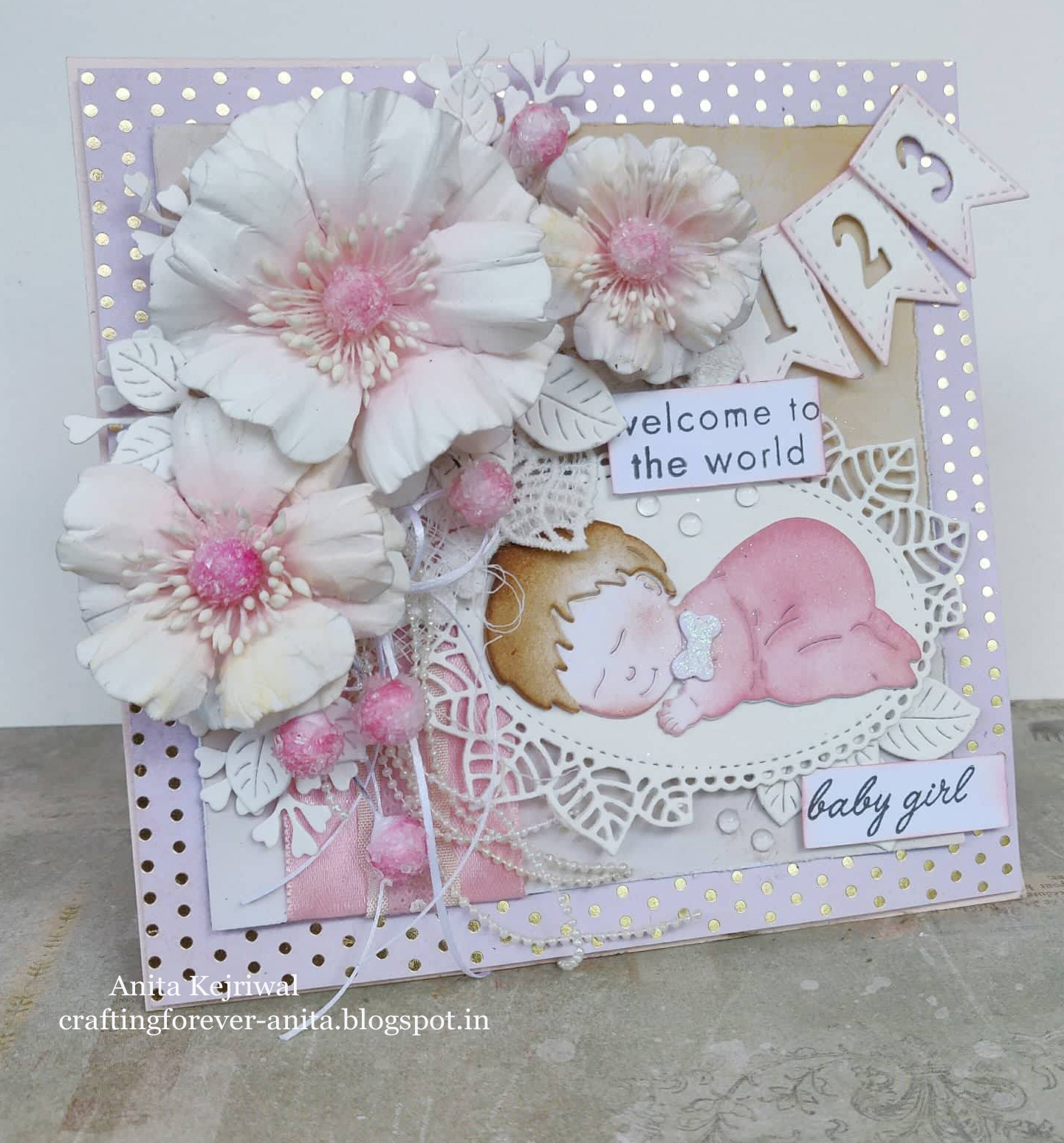Craftingforever Anita Beautiful Baby Cards With Craft Passion