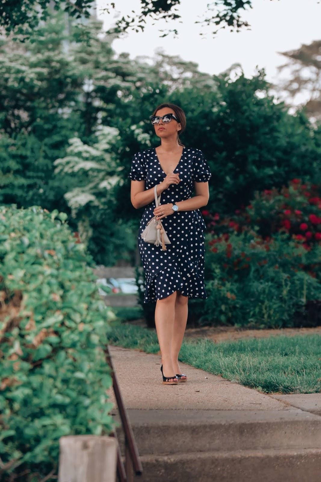 Outfit De Verano Utilizando Un Vestido De Lunares-mariestilo-como crear outfits desde cero-como crear outfits-vestir bien con poco dinero-como verte siempre arreglada-dcblogger-polka dot dress-