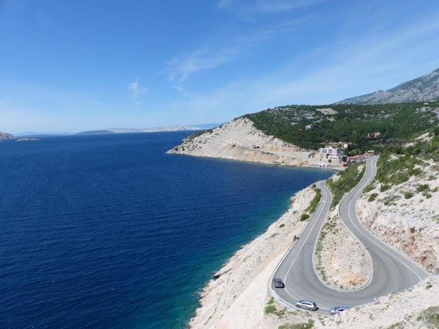 Kroatien Campingurlaub Rundreise Meerblick Fahrt Jablanac Fischerort Hafen