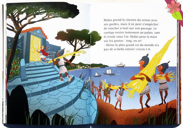 Ma première mythologie : L'or du roi Midas de Hélène Kérillis et Grégoire Vallancien - Hatier jeunesse