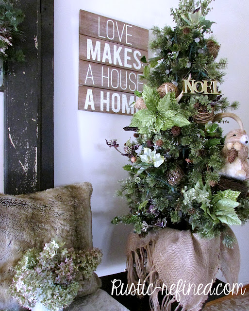 Woodland Christmas Decor for the Entryway