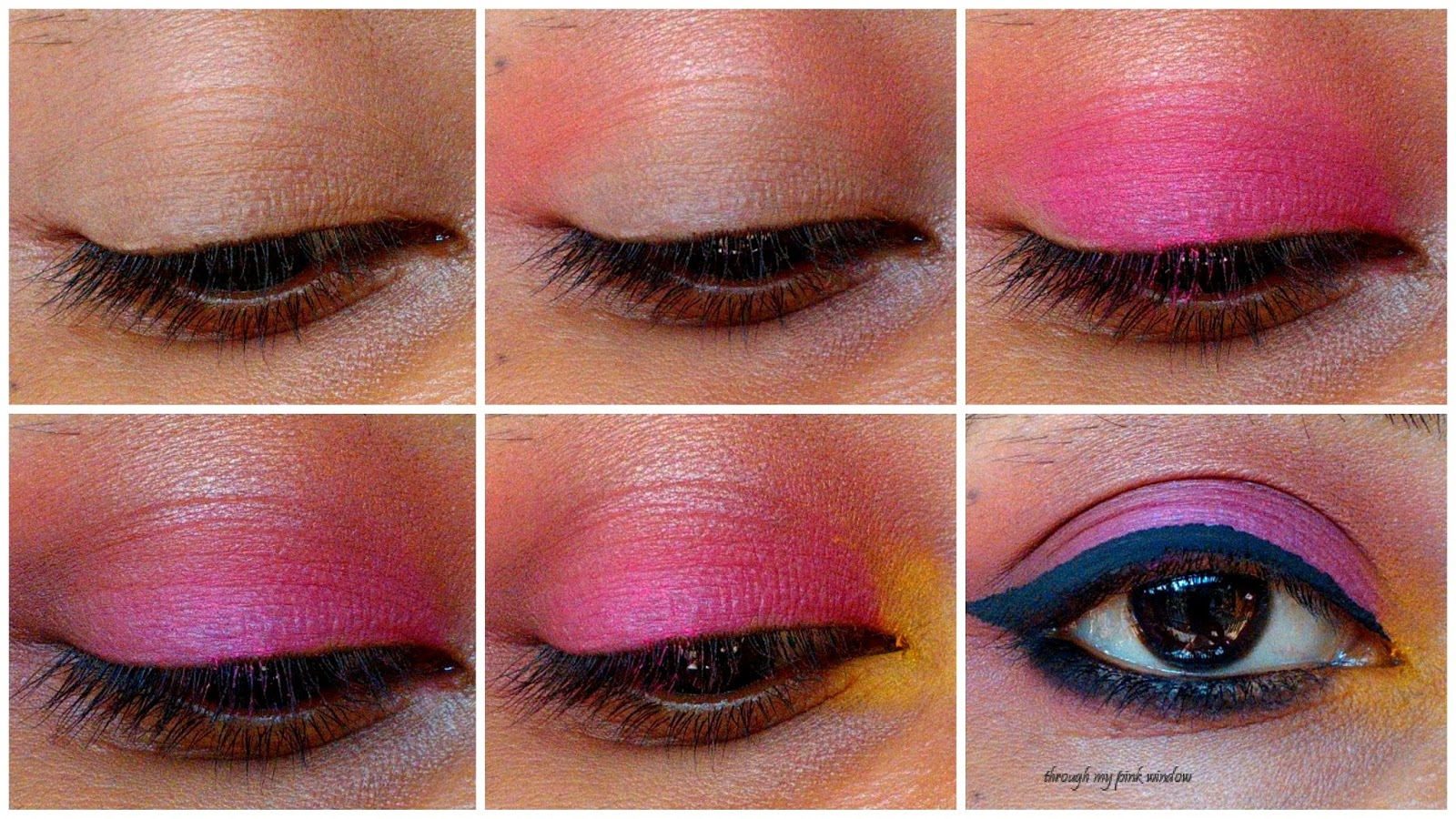 Step By Step Tutorial Simple Orange Pink And Yellow Gradient Eye