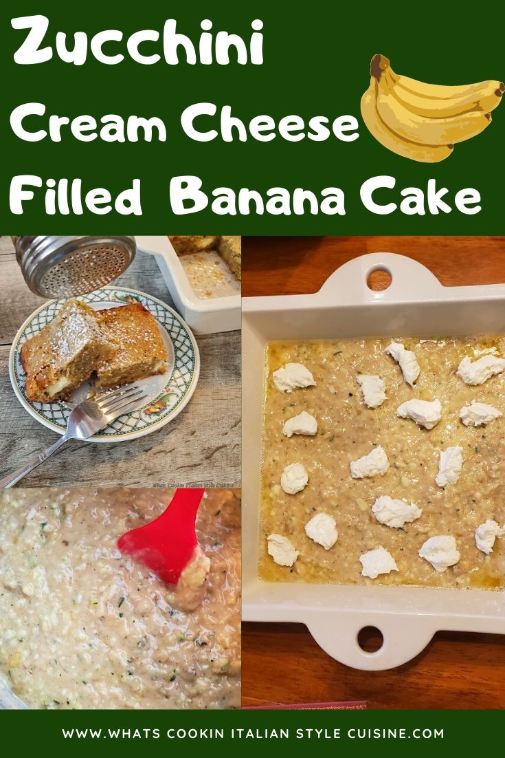 this is a pin for later zucchini banana cake recipe