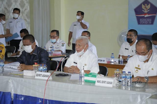 Bupati Asahan Pimpin Rapat PPKM Berbasis Mikro Dalam Rangka Pengendalian Penyebaran Covid-19