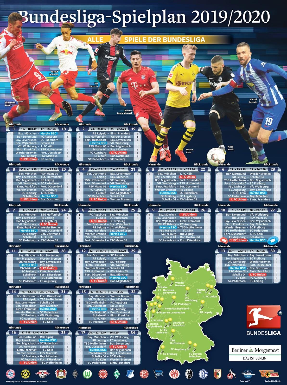 Bundesliga Spielplan Rückrunde