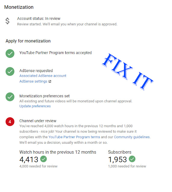 My YouTube channel is still under review fix it now,under review youtube channel