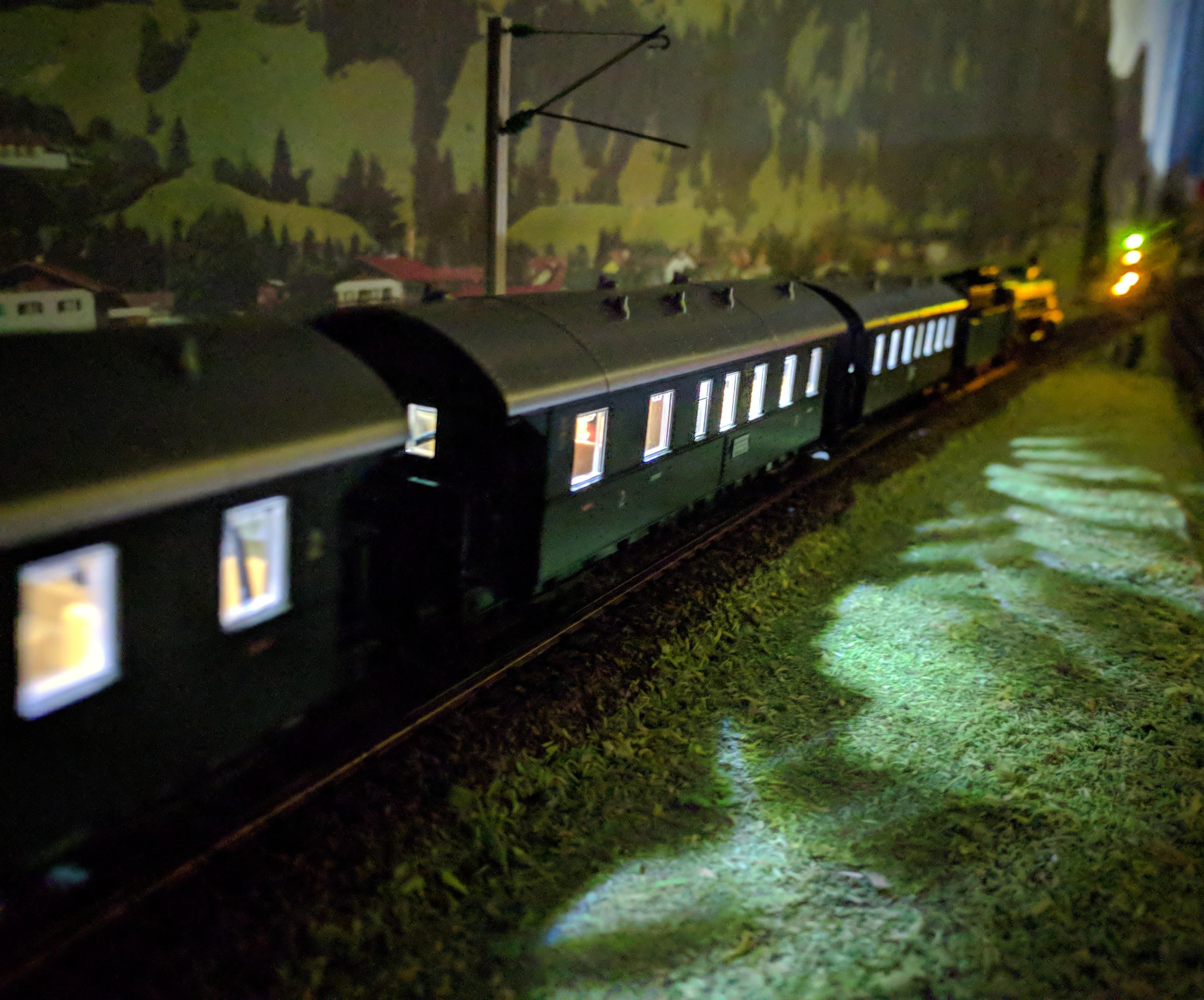 illuminated train