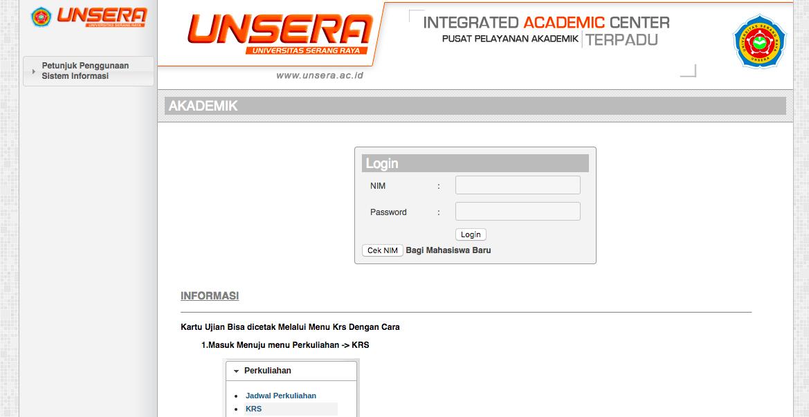 portal akademik unsera