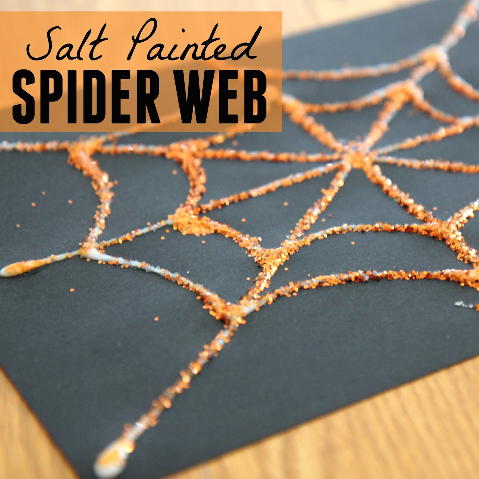 Toddler Approved Salt Painted Spider Web