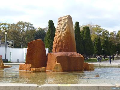 大阪城噴水