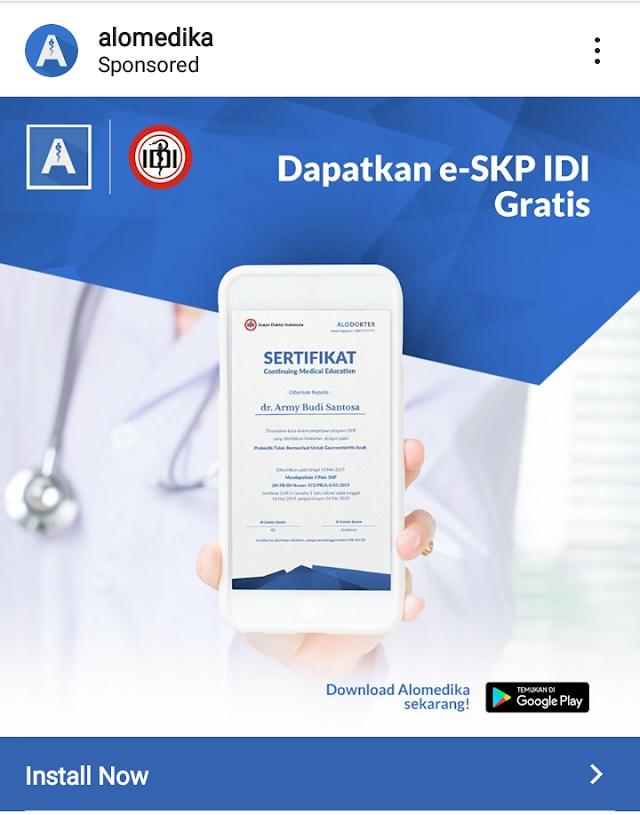 SKP IDI GRATIS Part 5: Via Aplikasi Alomedika