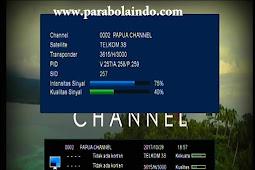 Frekuensi Papua Channel Terbaru di Telkom 3S 118°E