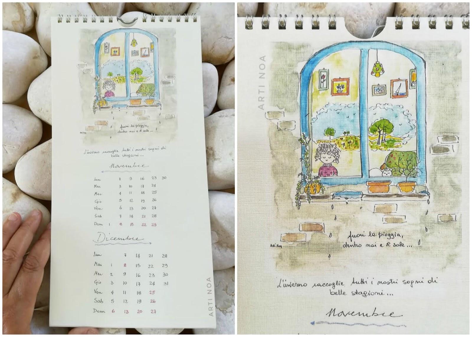 Calendario Novembre E Dicembre 2020.Calendario 2020 Gatti E Bimbe Arti Noa Arti Noa