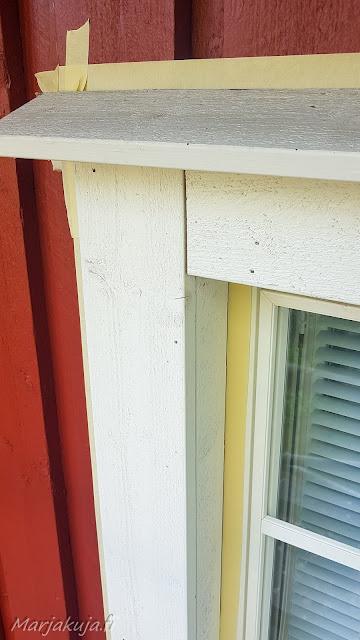 Ikkunoiden smyygit ennen maalausta