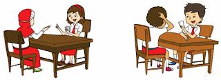 Ibu guru membentuk kelompok secara berpasangan www.simplenews.me