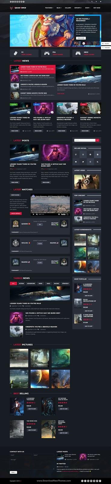 Best eSports Gaming WordPress Theme