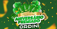 Promoção Aniversário Premiado Ordini