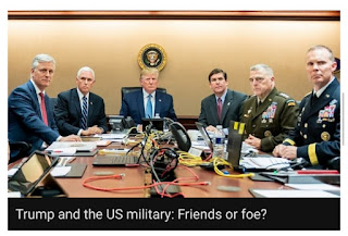 US military and Trump are they friends or foe ?