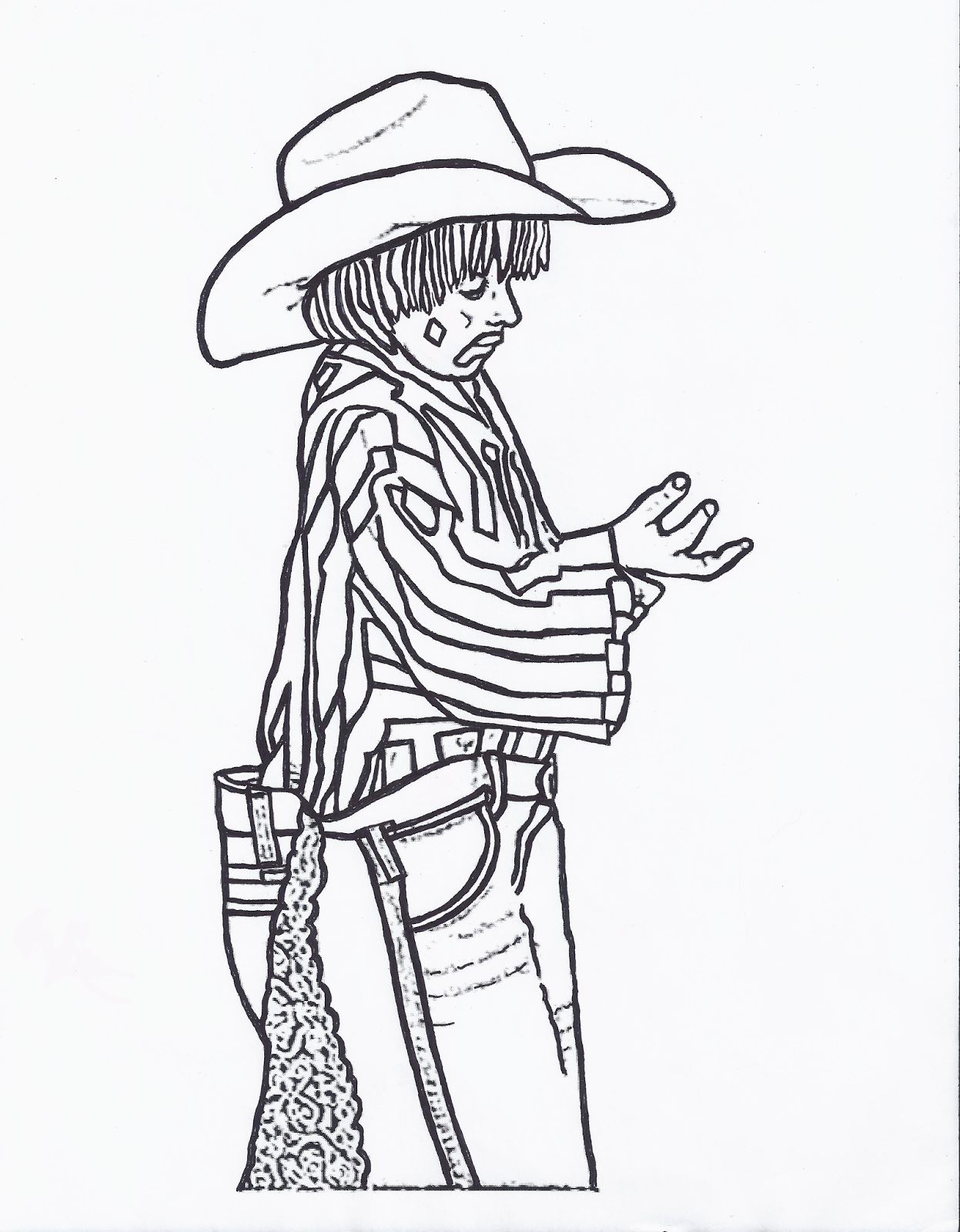 RODEO COLORING PAGES: Rodeo Clown Kid Color Page by ...