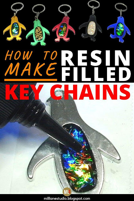 How to make a resin-filled key chain bottle opener inspiration sheet