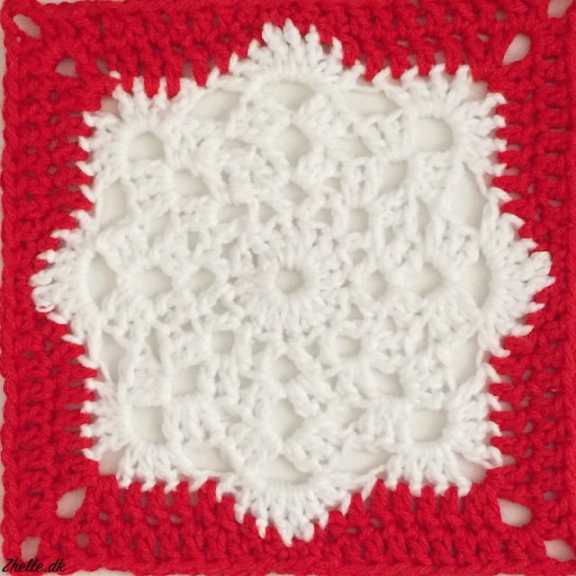 An image of a snowflake granny square