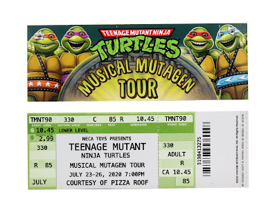San Diego Comic-Con 2020 Exclusive Teenage Mutant Ninja Turtles 1990 Movie Musical Mutagen Tour Accessory Pack by NECA
