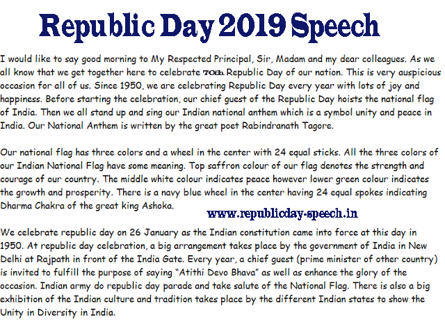 Republic-Day-Speech-for-Students-and-Childrens-2019