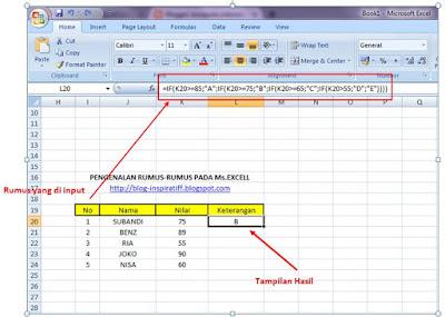 Rumus-rumus dasar pada Microsoft Excel part08