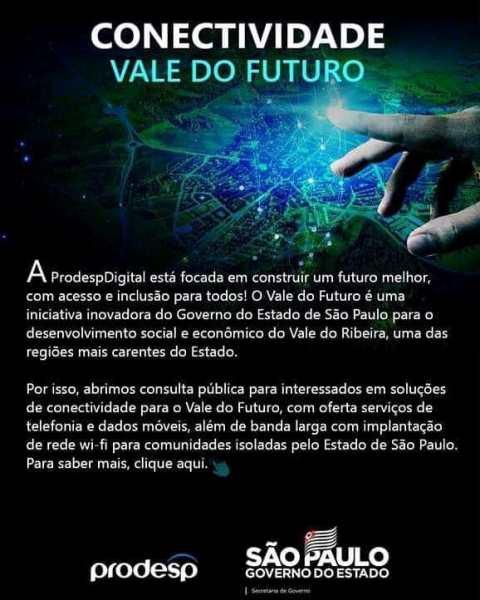 Governo de São Paulo lança projeto tecnológico para beneficiar o Vale do Ribeira