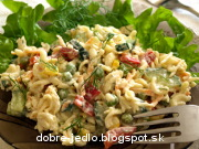 Cestovinový šalát so zeleninou - recept