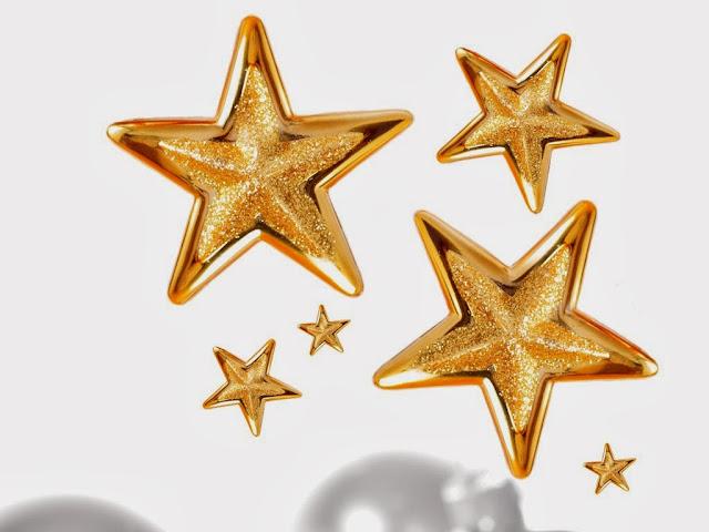 Drie grote en drie kleine gouden sterren