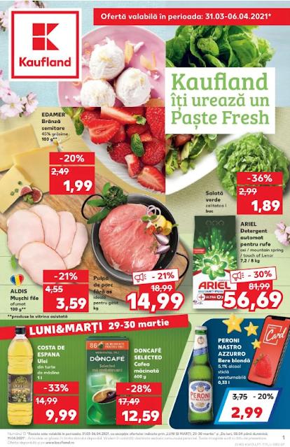 Kaufland Promotii + Catalog-Brosura 31.03 - 06.04 2021 →  Paste