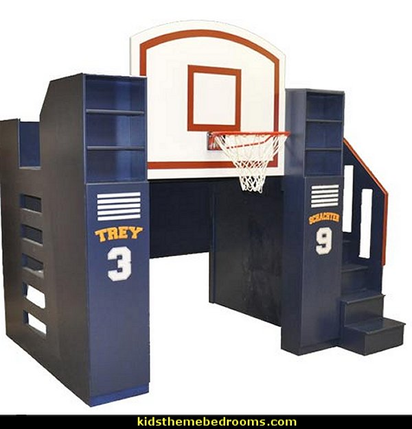 Basketball Bunk Bed  basketball bedroom ideas - Basketball Decor - basketball wall murals - basketball bedding - basketball wall decal stickers - basketball themed bedrooms - basketball bedroom furniture - basketball wall decorations - Basketball wall art - Basketball themed rooms - basketball bedroom furniture - NBA bedding - Boys basketball theme