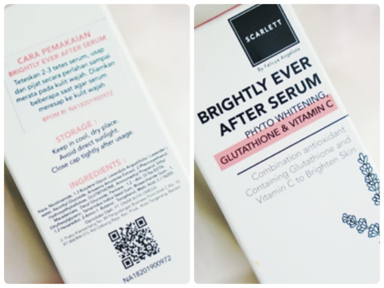 scarlett acne serum dan scarlett brightly ever after serum
