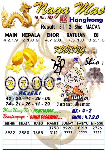 Syair Nagamas HK Sabtu 10 Juli 2021